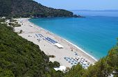 Karavostasi beach in Greece