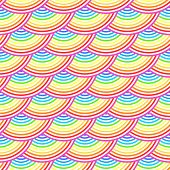 image of dragon-fish  - Rainbow fish scales vector seamless pattern - JPG
