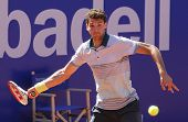 BARCELONA - APRIL, 24: Bulgarian tennis player Grigor Dimitrov in action during a match of Barcelona