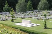WW1 Buttes New British Cemetery in Polygon Wood near Ypres, Belgium