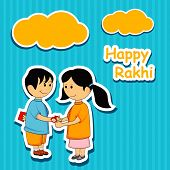 picture of rakhi  - Sister tying Rakhi on her brother - JPG