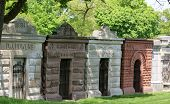 stock photo of mausoleum  - A row of well maintained - JPG