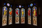 A stained glass from Blois Chateau valley of Loire France