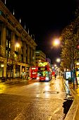 Oxford street night view in London, UK