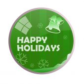 Glossy Happy Holidays Chime Ball poster