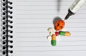 picture of methadone  - Drug abuse concept  - JPG