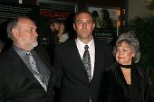 Tom Druilhet and his parents  at the Charity Screening of 'Polanski Unauthorized' to Benefit the Children's Defense League. Laemmle Sunset 5 Cinemas, West Hollywood, CA. 02-10-09