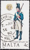 Uniform Of Gunner Malta Coast Artillery In 1802
