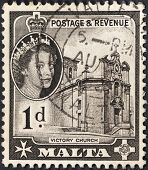Medieval Victory Church In Valleta, Malta