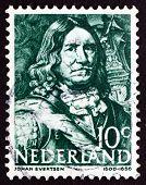 Postage Stamp Netherlands 1943 Johan Evertsen, Dutch Admiral