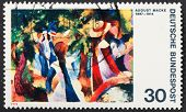 Girls In The Forest By August Macke