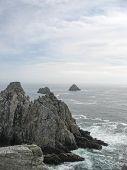 Pointe Du Raz And Sea Coast In Brittany