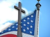 American Flag Christian Cross