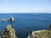 Pointe Du Van And Sea Coast In Brittany