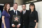 Kiefer Sutherland with cast of '24'   at the Ceremony Honoring Kiefer Sutherland with the 2,377th Star on the Hollywood Walk of Fame. Hollywood Boulevard, Hollywood, CA. 12-09-08