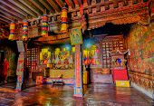 Inside View Of Silerygaon Monastery, Sikkim, India