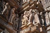 Human Sculptures At Vishvanatha Temple,  Khajuraho, India