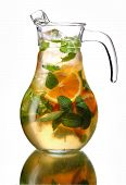 Carafe with a refreshing drink