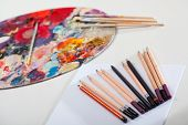 Artistic Tools And Painting Palette