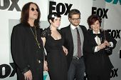 Ozzy Osbourne and Kelly Osbourne with Jack Osbourne and Sharon Osbourne  at the FOX Winter All-Star