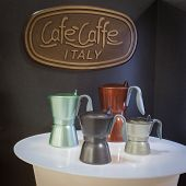 Mocha Coffee Pots At Homi, Home International Show In Milan, Italy