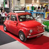 Fiat 500 Car On Display At Homi, Home International Show In Milan, Italy