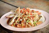 Papaya Salad With Blue Crab