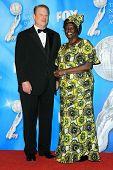 Al Gore and Wangari Muta Maathai  in the press room at the 40th NAACP Image Awards. Shrine Auditoriu