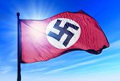 German Reich (1935-1945) flag waving on the wind
