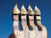 Casa Batlló mosaic chimney