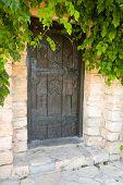 Front Door Of A Beautiful Brick House