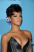 Rihanna  in the press room at the 2008 American Musica Awards. Nokia Theatre, Los Angeles, CA. 11-23