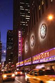 Night Shot Of Radio City Music Hall
