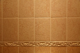 stock photo of ceramic tile  - Ceramic tile on a wall as a background - JPG