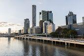 Brisbane Cityscape by the Brisbane River
