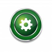 Settings Circular Vector Green Web Icon Button