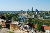 Vilnius City View From Gediminas Castle