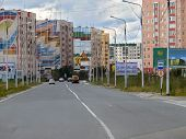 Nadym, Russia - August 21, 2007: The City Skyline