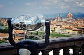 Touristic telescope, Florence, Italy