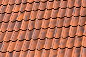 picture of red roof tile  - Red tiles roof background texture of a house - JPG
