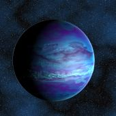 Blue gas giant