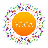 Complex asanas. Yoga. The idea for the sign Yoga - studio.