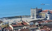 View From The Top Of Rua Augusta Arch, Lisbon, Portugal