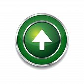 Up Key Circular Vector Green Web Icon Button