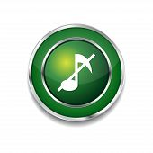 Mute Circular Vector Green Web Icon Button