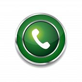 Call Circular Vector Green Web Icon Button