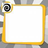 Yellow Text Box With Paper Clip And Spiral