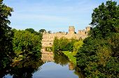 Warwick castle and river Avon.
