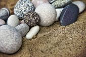 Background Rocks And Sand Closeup