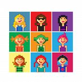 Pixel girl avatar
